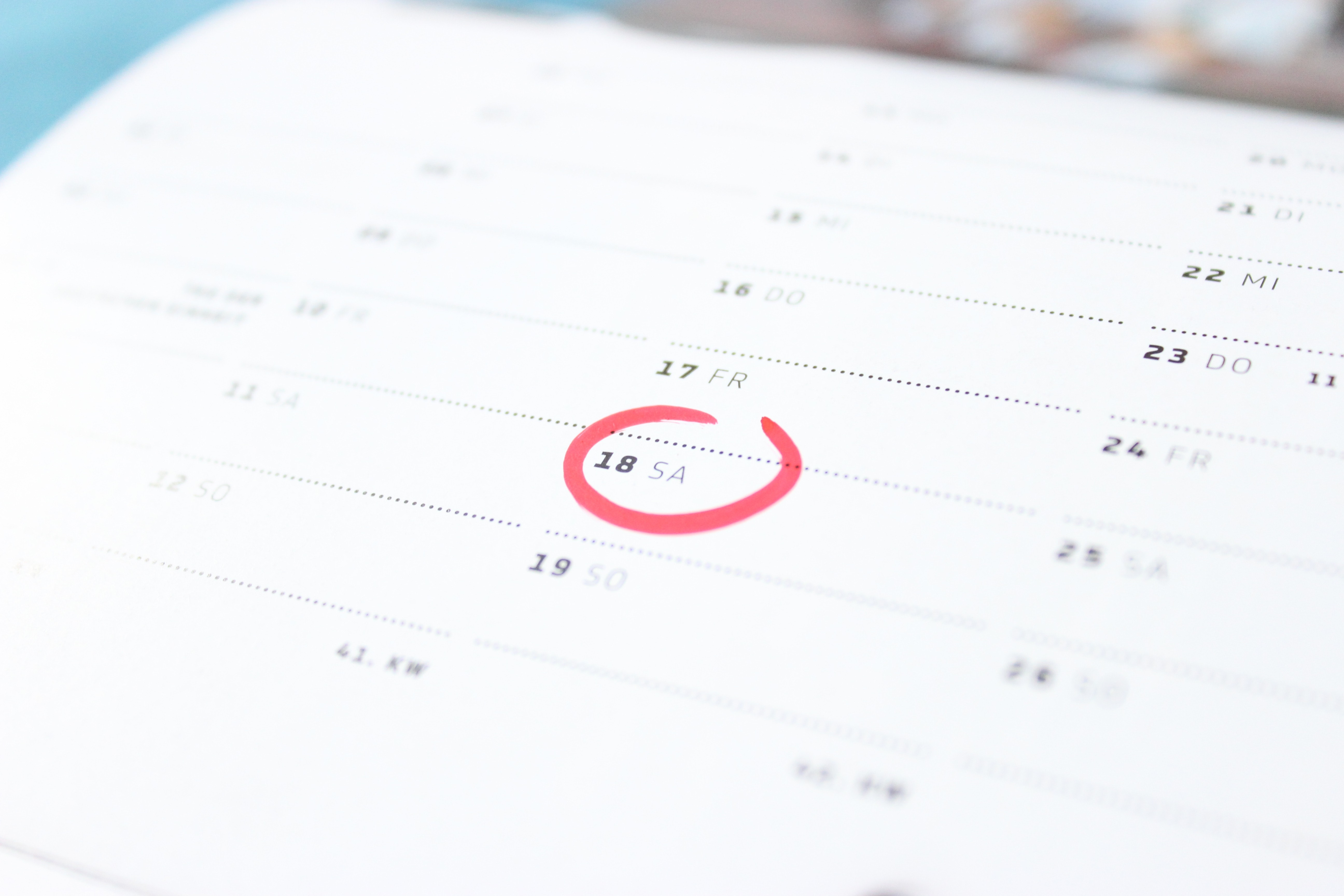 One Shared Space Calendar